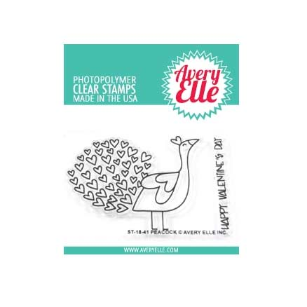 Avery Elle Clear Stamps - Peacock