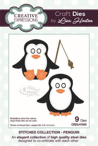 Creative Expressions Craft Die by Lisa Horton - Stitched Penguin