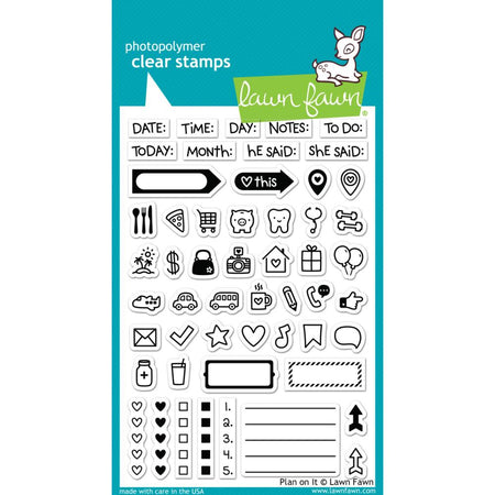 Lawn Fawn Clear Stamps - Plan On It