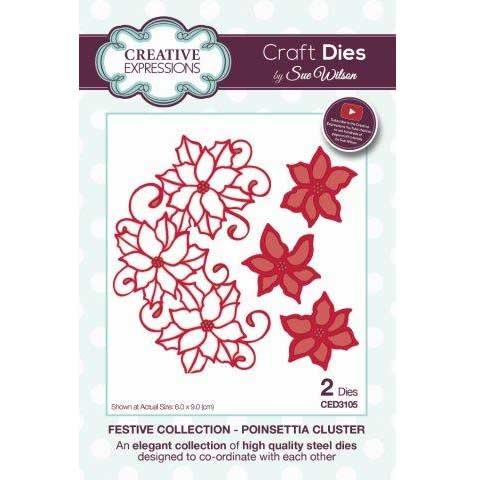 Creative Expressions Craft Die by Sue Wilson - Poinsettia Cluster