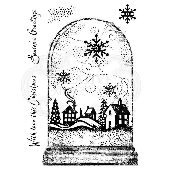 Woodware Clear Magic Singles Stamps - Snowglobe