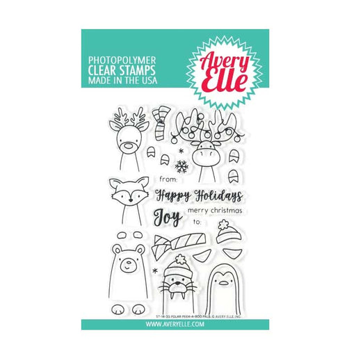 Avery Elle Clear Stamps - Polar Peek-A-Boo Pals