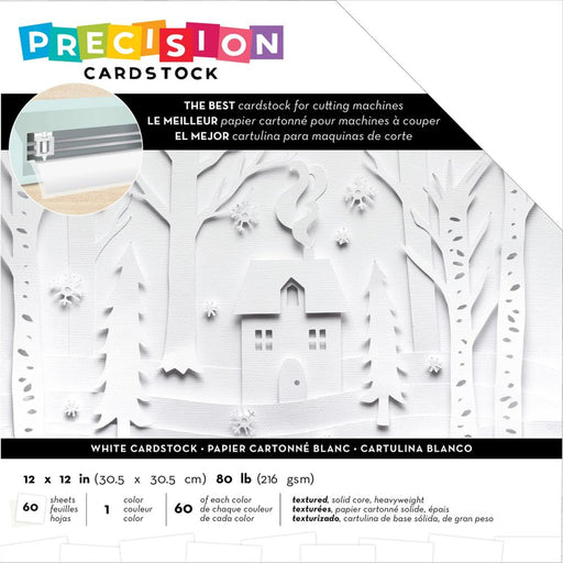 American Crafts 12x12 Precision Cardstock Pack - White