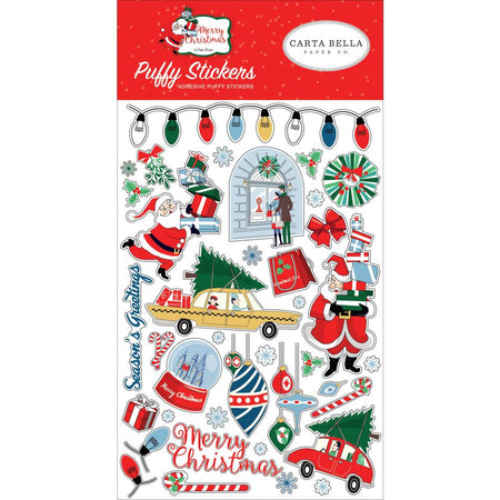 Carta Bella Merry Christmas - Puffy Stickers