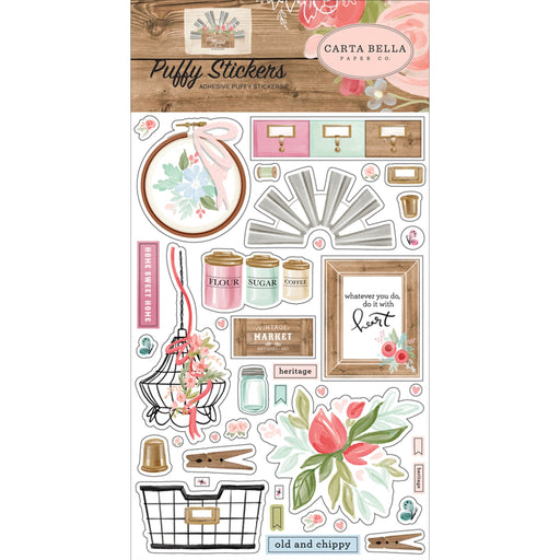 Carta Bella Farmhouse Market - Puffy Stickers