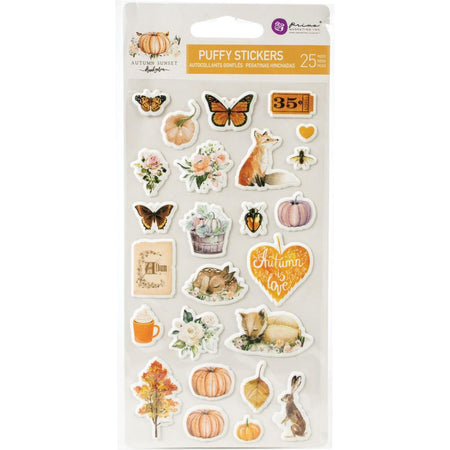 Prima Autumn Sunset - Puffy Stickers