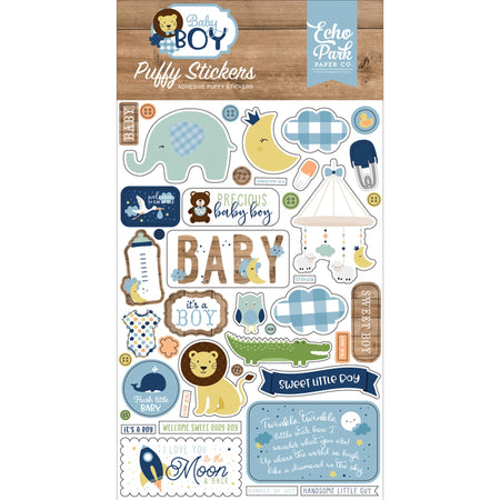 Echo Park Baby Boy - Puffy Stickers