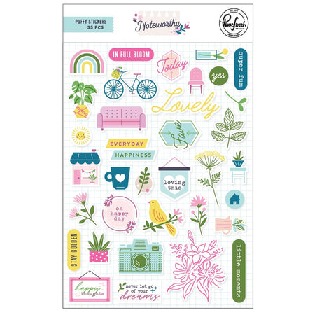Pinkfresh Studio Noteworthy - Puffy Stickers