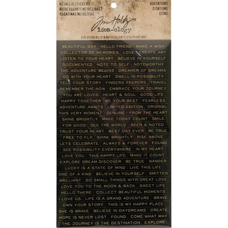 Tim Holtz Idea-Ology - Metallic Stickers Quotations