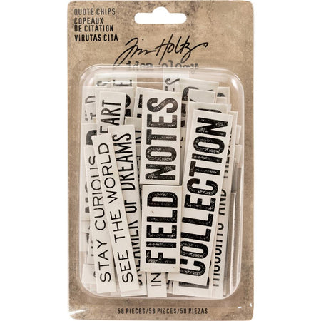 Tim Holtz Idea-ology - Quote Chips