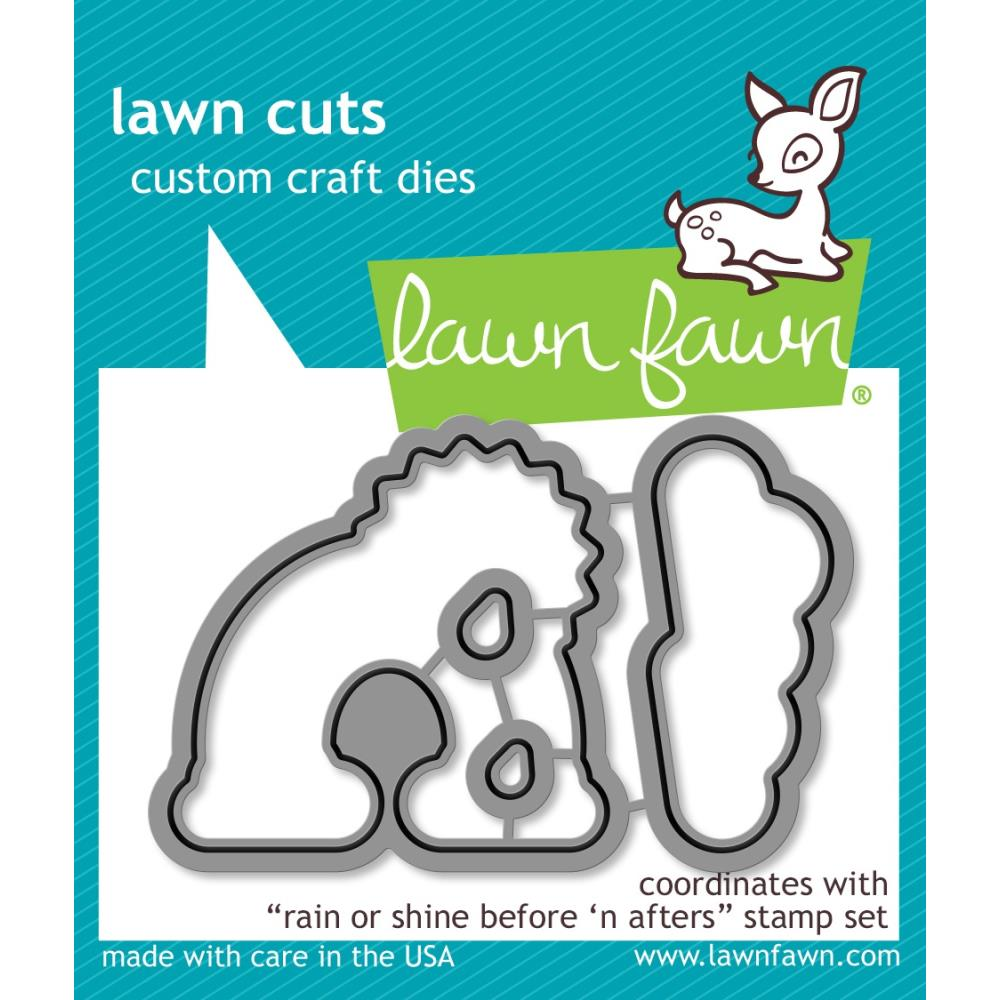 Lawn Fawn Craft Die - Rain or Shine Before 'n Afters