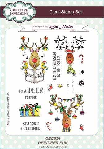 Creative Expressions Clear Stamp Set - Reindeer Fun by Lisa Horton