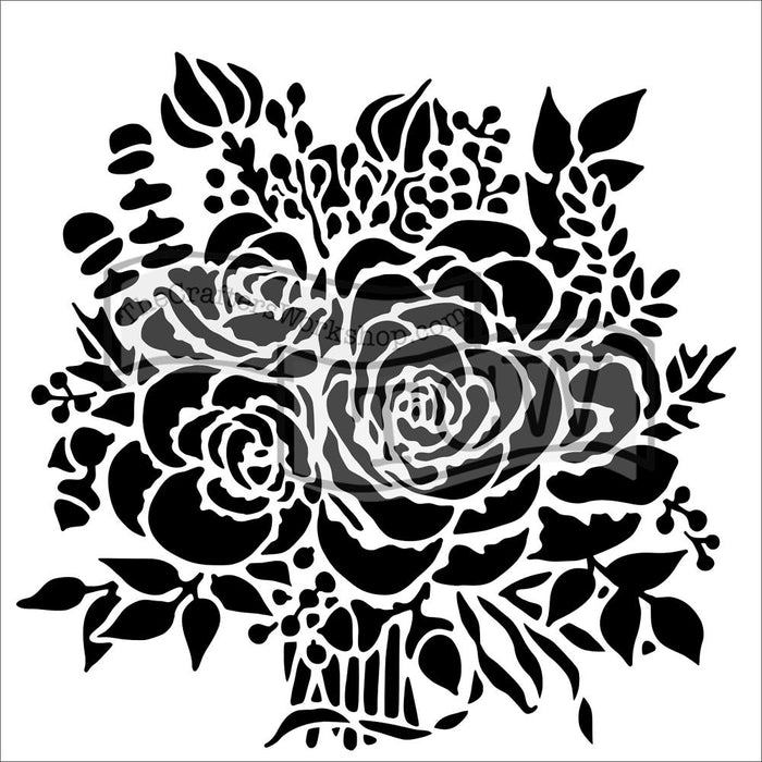 Crafter's Workshop 6x6 Template - Rose Bouquet