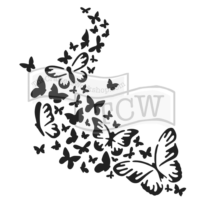 Crafter's Workshop 6x6 Template - Rose Butterfly Trail