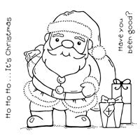 Woodware Clear Magic Singles Stamps - Santa's Here