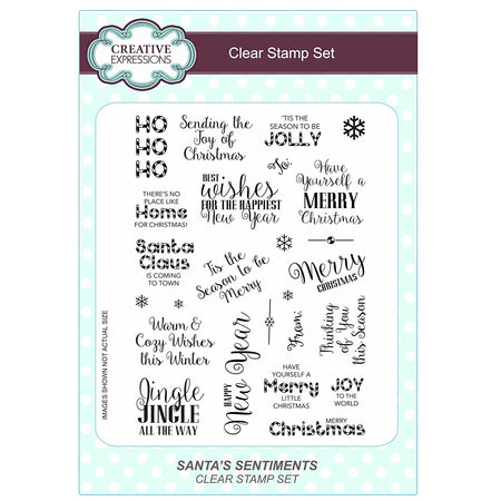 Creative Expressions Clear Stamp Set - Santa's Sentiments