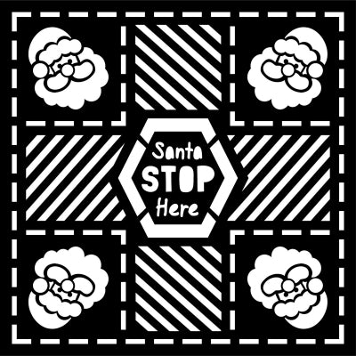 That Special Touch 6x6 Mask - Santa Stop