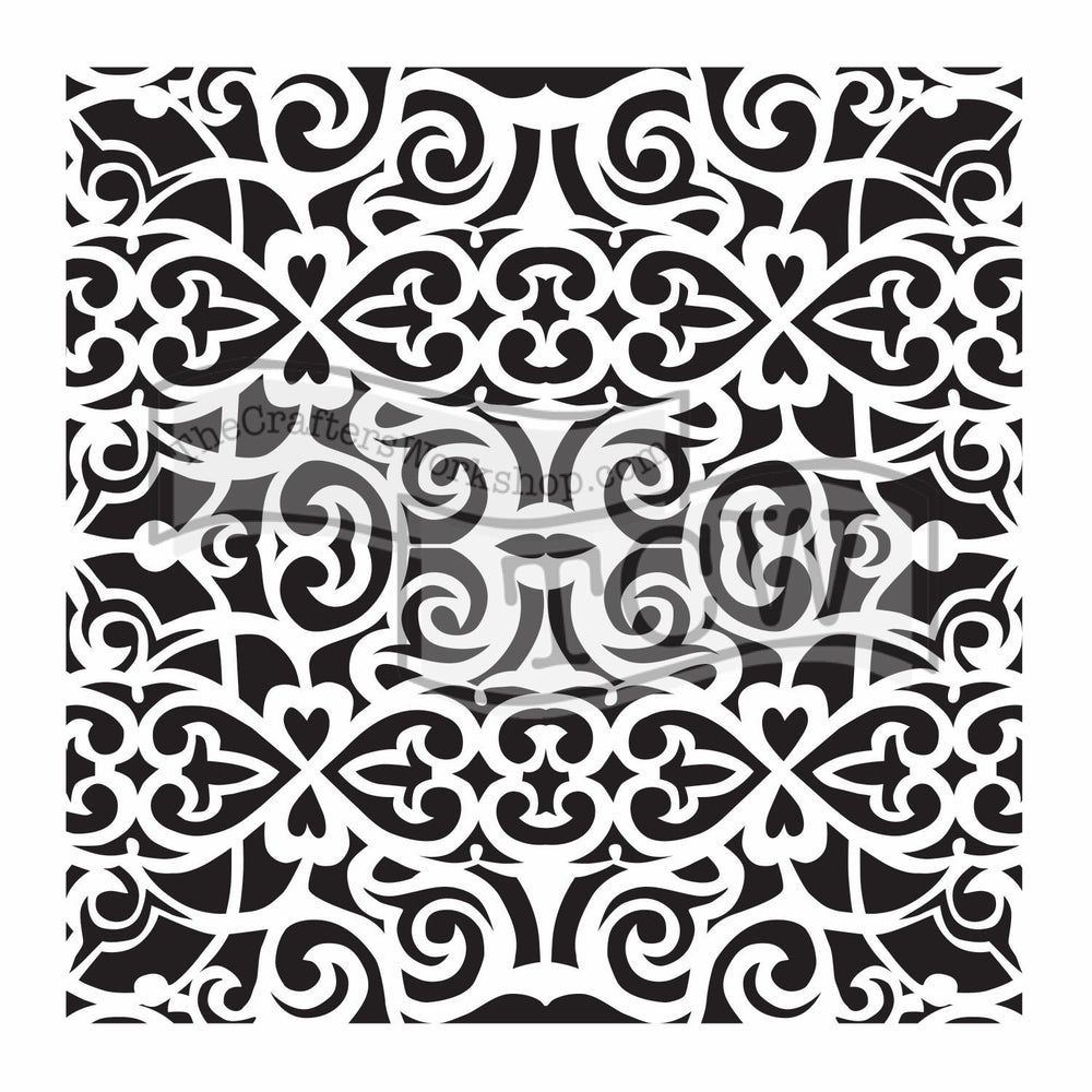 Crafter's Workshop 6x6 Template - Scrollwork