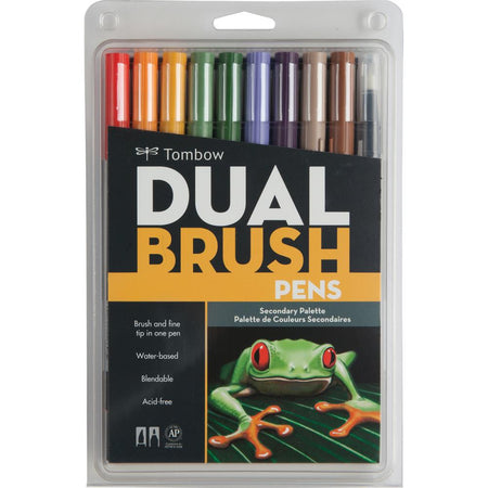 Tombow Dual Brush Pens 10 Pack - Secondary Palette