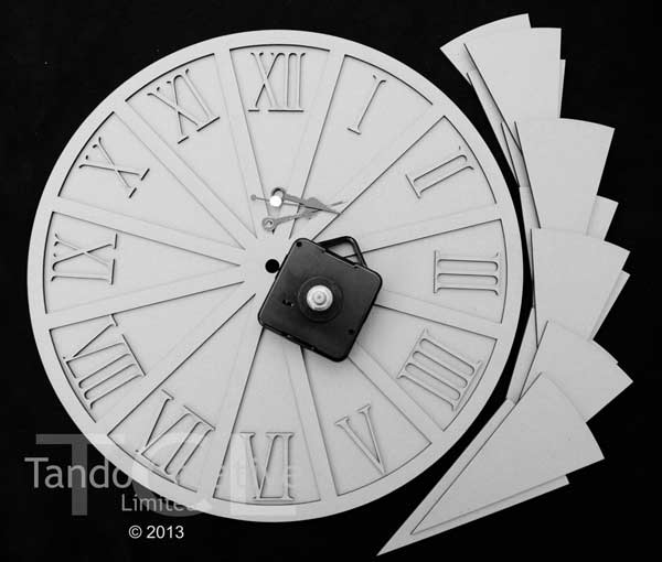 Tando Creative - Segment Clock Small
