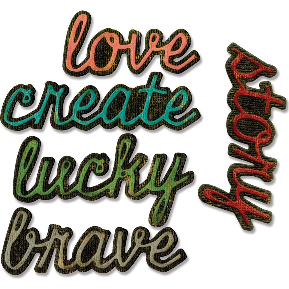 Sizzix Tim Holtz Alterations Thinlits Die - Shadow Script #1