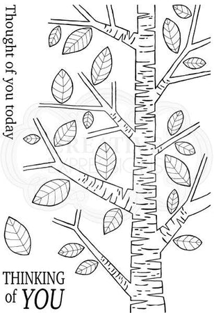 Woodware Clear Magic Singles Stamps - Silver Birch Tree