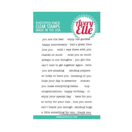 Avery Elle Clear Stamps - Simple Sentiments