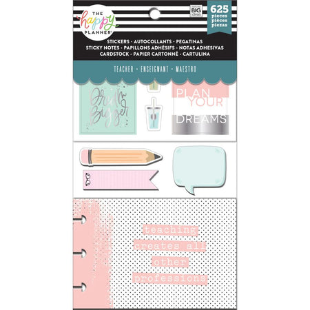 Me & My Big Ideas Happy Planner Note Cards/Stickers - Simply Teach