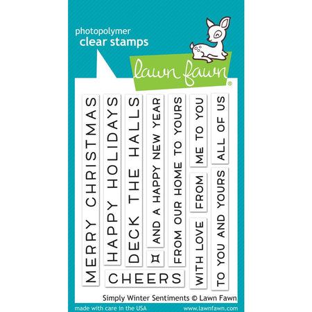 Lawn Fawn Clear Stamps - Simply Winter Sentiments