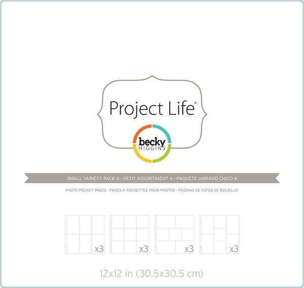 Project Life Photo Pocket Pages - Small Variety Pack 4