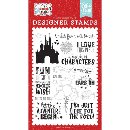 Echo Park A Magical Place - Smiles From Ear To Ear Clear Stamps