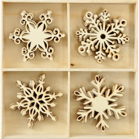 Kaisercraft Wooden Flourish Pack - Snowflakes