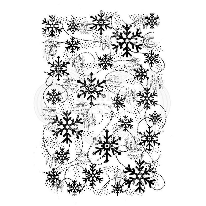 Woodware Clear Magic Singles Stamps - Snow Flurry
