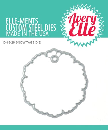 Avery Elle Elle-ments Die - Snow Tags