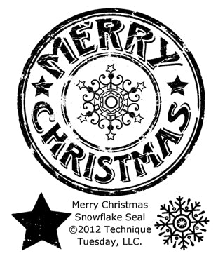 Technique Tuesday - Merry Christmas Snowflake Seal