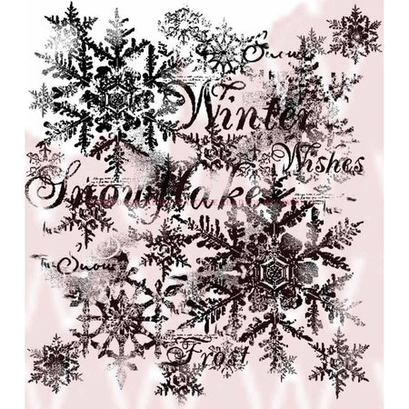 Woodware Clear Magic Singles Stamps - Snowflakes