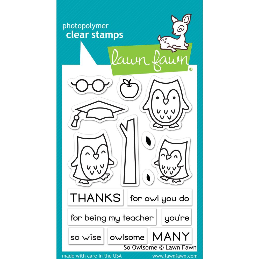 Lawn Fawn Clear Stamps - So Owlsome
