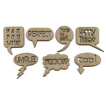 Scrap FX Chipboard - Speech Bubbles FabYOUlous