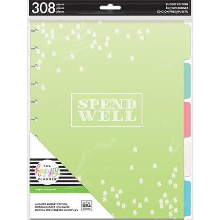 Me & My Big Ideas Happy Planner - Undated Big Extension Pack Spend Well