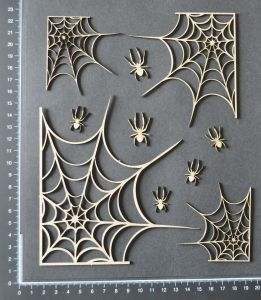 Dusty Attic - Spider and Webs Set