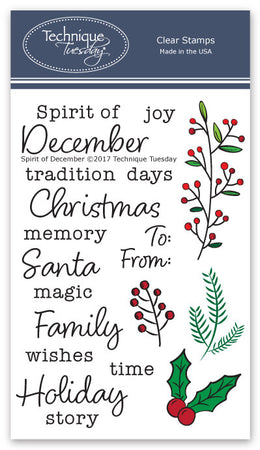 Technique Tuesday Clear Stamps - Spirit of December
