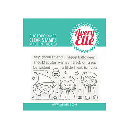 Avery Elle Clear Stamps - Peek-A-Boo Pals Spooktacular