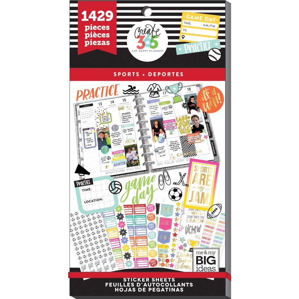 Me & My Big Ideas Happy Planner - Sticker Value Pack Sports