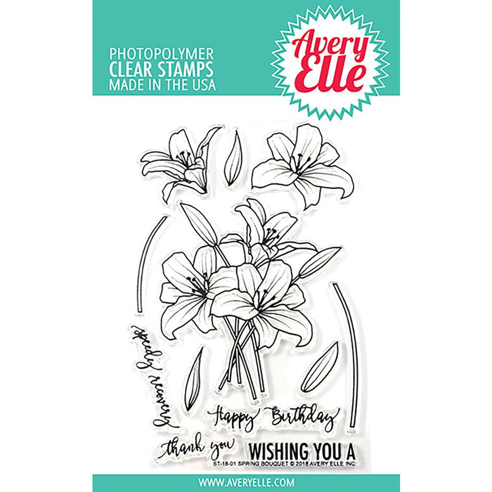 Avery Elle Clear Stamps - Spring Bouquet