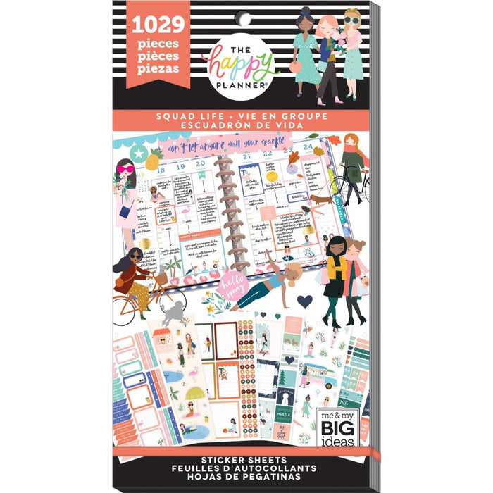 Me & My Big Ideas Happy Planner Sticker Value Pack - Squad Life