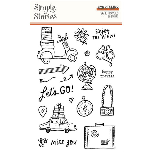 Simple Stories Safe Travels - 4x6 Clear Stamps