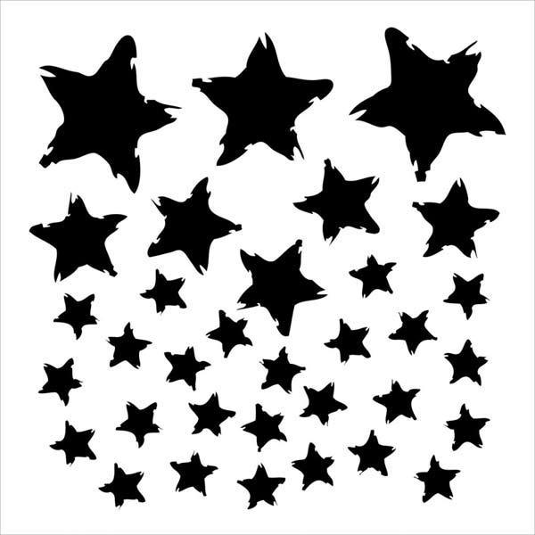 Crafter's Workshop 6x6 Template - Star Fall