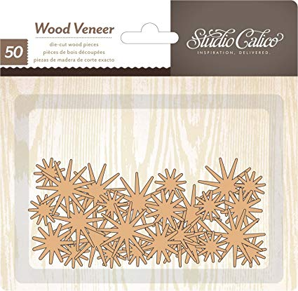 Studio Calico Wood Veneer Shapes - Starburst