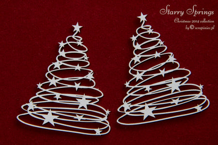 Scrapiniec Chipboard - 3152 Starry Springs Christmas Trees