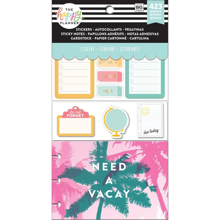 Me & My Big Ideas Happy Planner Note Cards/Stickers - Stay Sharp Student
